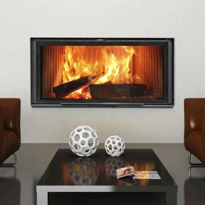 Stilkamin XL Inset with 1120 x 520mm Glass Panel 24Kw Wood Burner