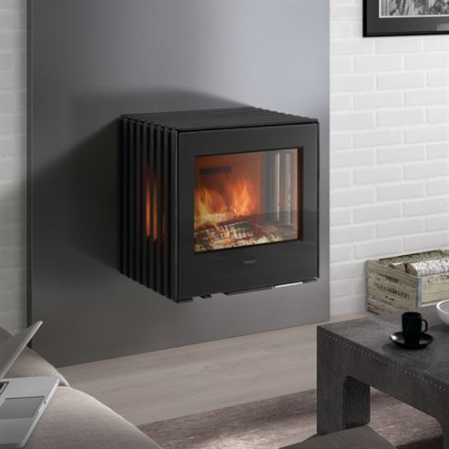 Hergom Glance Wall Hung 7Kw Wood Burner