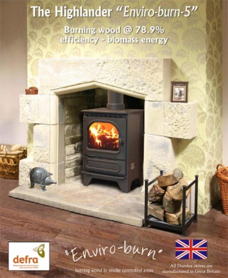Dunsley Heat Highlander 5 Enviro-burn 4.9Kw Multi Fuel