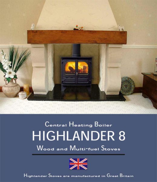Dunsley Heat Highlander 8 CH Boiler Multi Fuel
