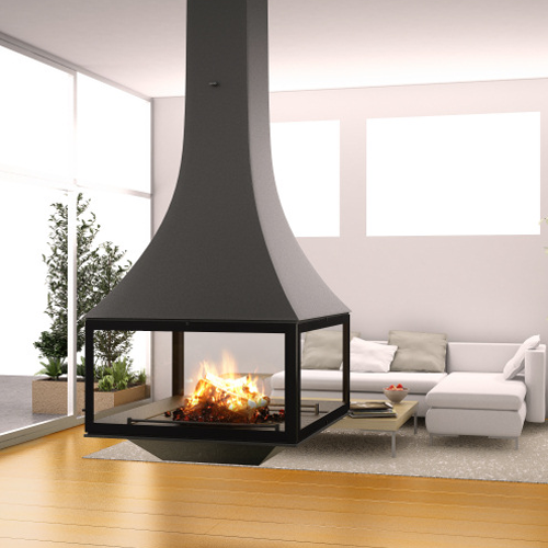 Julietta 985 Black Line Suspended 15Kw Wood Burner
