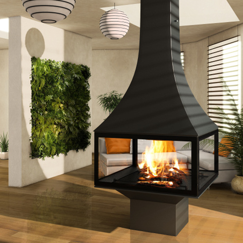 Julietta 985 Black Line Central 15Kw Wood Burning Stove