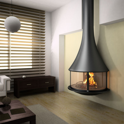 Zelia 908 Wall Mounted 13.5Kw Wood Burning Stove