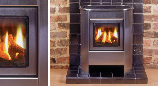 Steel Manhattan Small Gas Stove 1.76 - 2.85Kw