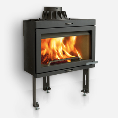 I400 Cleanburn Built-In wood Burning Stove - Hinged Doors 9Kw
