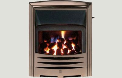 Glass Fronted - Abri fireframe glass fronted gas convector fire Bronze finish