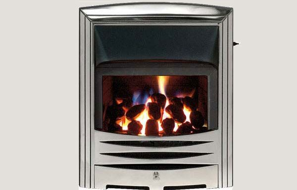 Glass fronted - Abri fireframe glass fronted gas convector fire Full polished