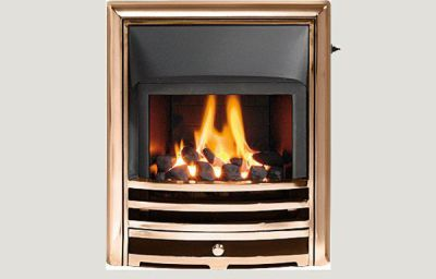 Glass fronted - Capella fireframe glass fronted gas convector fire Bronze finish
