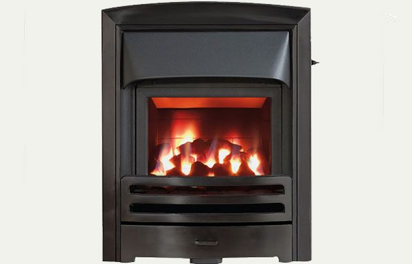 Glass fronted - Flare fireframe glass fronted gas convector fire Black