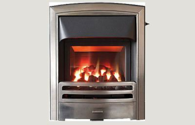 Glass fronted - Flare fireframe glass fronted gas convector fire Full polished