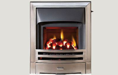 Glass fronted - Mizar fireframe glass fronted gas convector fire Full polished