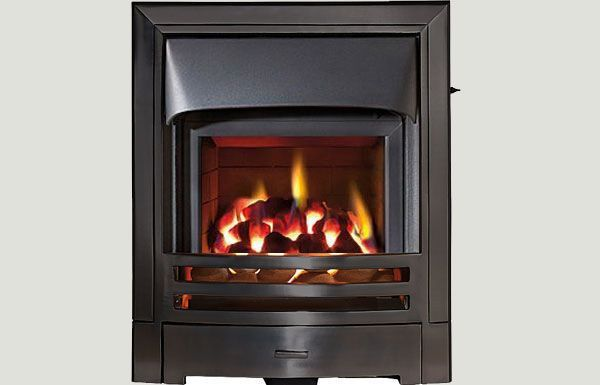 Glass fronted - Mizar fireframe glass fronted gas convector fire Black