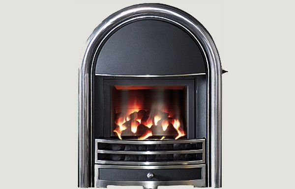 Glass fronted - Provident fireframe glass fronted gas convector fire Highlight
