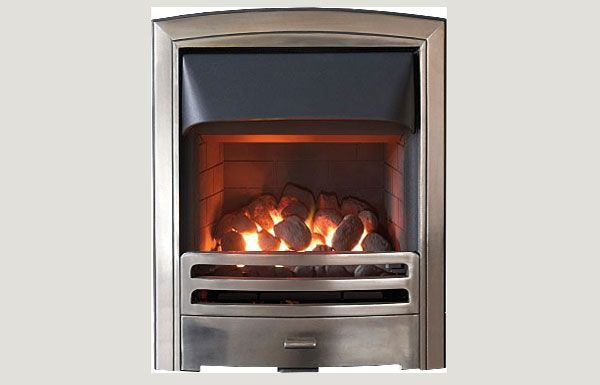 Glass fronted - Flare fireframe open fronted gas convector fire Full polished