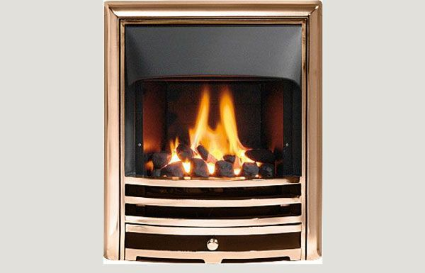 Open fronted - Capella fireframe open fronted gas convector fire Bronze finish