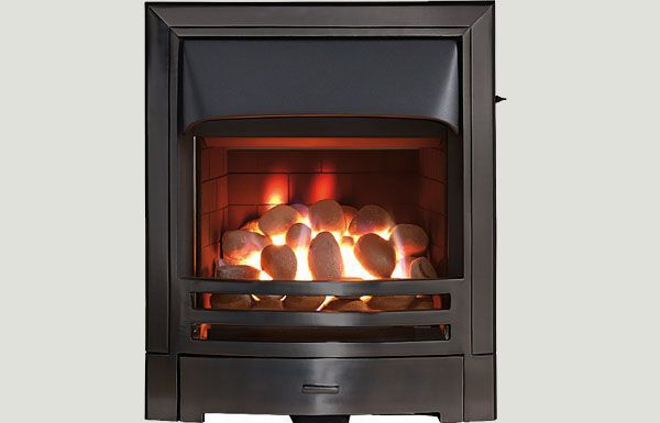 Open fronted - Mizar fireframe open fronted gas convector fire Black