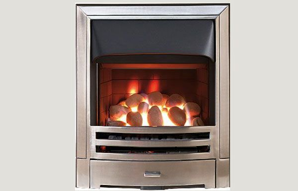 Open fronted - Mizar fireframe open fronted gas convector fire Antique Brass finish
