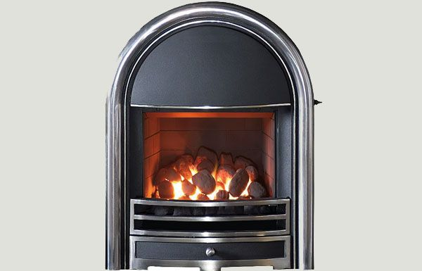 Open fronted - Provident fireframe open fronted gas convector fire Highlight