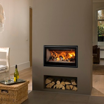 Cuatro-3 75 14Kw Wood Burning Inset