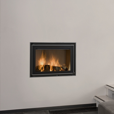 Energa 60/45 10Kw Wood Burning Built-In Stove - Flat Hinged Door