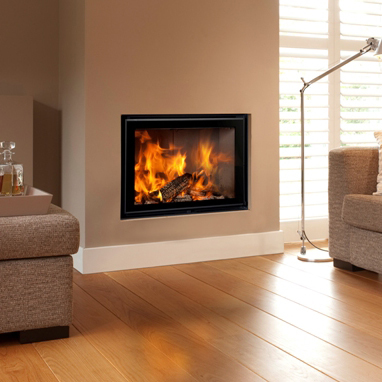 Energa 70/55 20Kw Wood Burning Built-In Stove - Flat Hinged Door