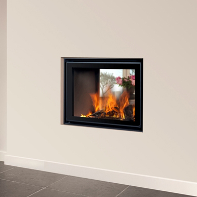 Energa 70/55 Tunnel 25Kw Wood Burning Built-In Stove - Flat Hinged Door