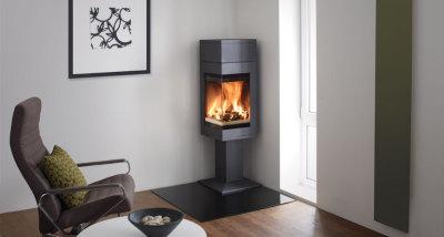 Quadro 1T 6.2Kw Wood Burning Corner stove