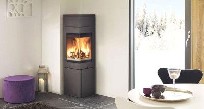 Nordpeis Quadro 2T Corner Stove 6.2Kw Wood Burner