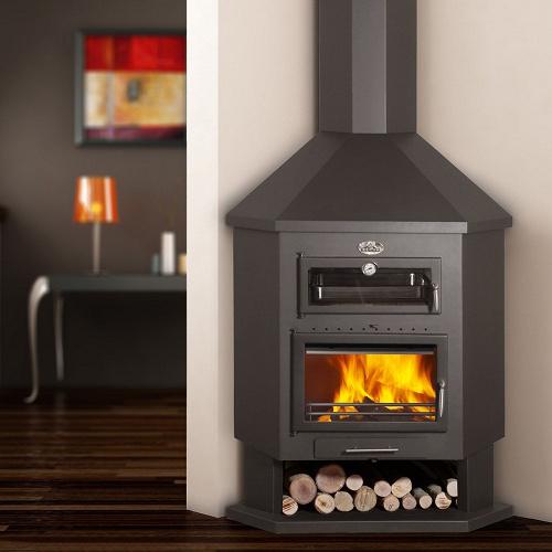 Ebro-R 13Kw Corner Cooking Wood Burner