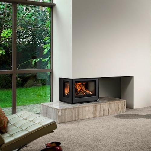 Unilux-6 265 9Kw Three Sided Wood Burning Inset
