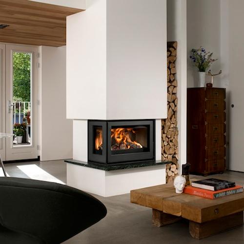 Barbas Unilux-6 265 9Kw Wood Burning Inset Corner stove