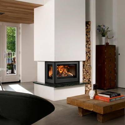 Barbas Unilux-6 265 9Kw Wood Burning Inset Corner stove