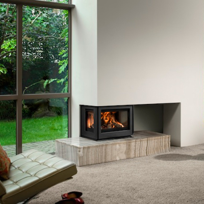 Barbas Unilux-6 265 9Kw Three Sided Wood Burning Inset