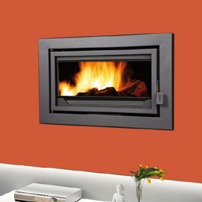 Bronpi Florida Panoramic 12Kw Wood Burning Inset