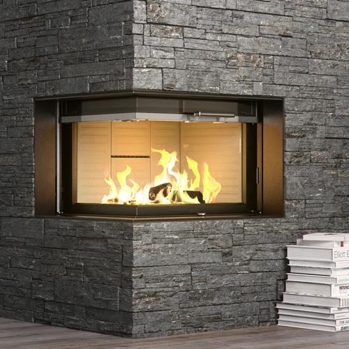 Rais Visio2 9Kw Wood Burning Built-In Corner Inset