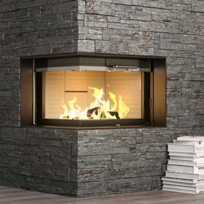 Rais Visio2 9Kw Wood Burning Built-In Corner Inset