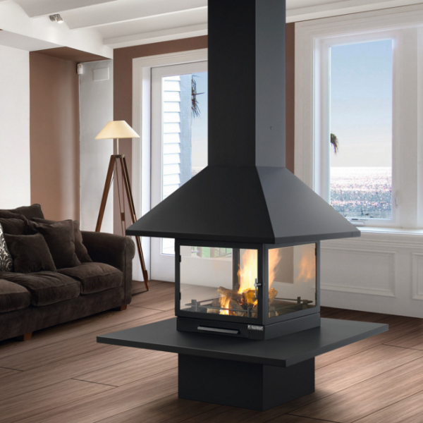 Traforart Vulcano Central 14.4Kw Wood Burner