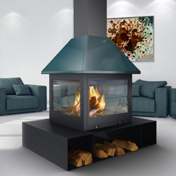 Traforart Sandra Central 14.4Kw Wood Burner