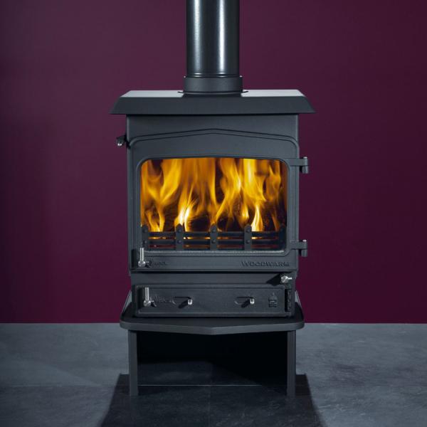 Woodwarm Fireview 5 Slender 5Kw Multi Fuel