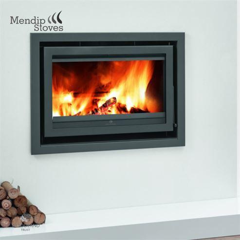 Mendip Christon 900 11Kw Wood Burning Inset
