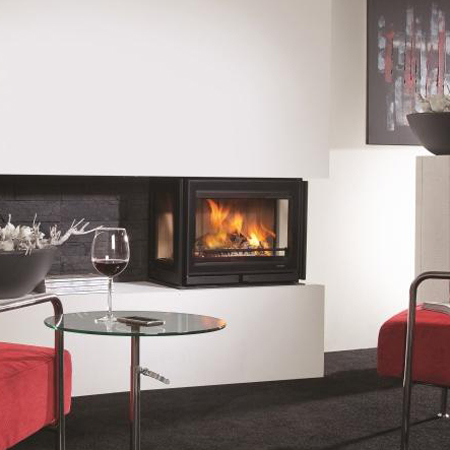 Wanders Square 60 Trilateral Three Sided 7Kw Wood Burning Inset