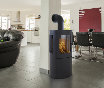 Heta Scanline 800 (optional Side Windows) 6Kw Wood Burner
