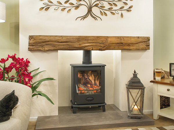 The Dartmoor - Oak effect beam from Newman Fireplaces - Light or Dark Oak