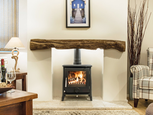 The Fowey - Oak effect beam from Newman Fireplaces - Light or Dark Oak