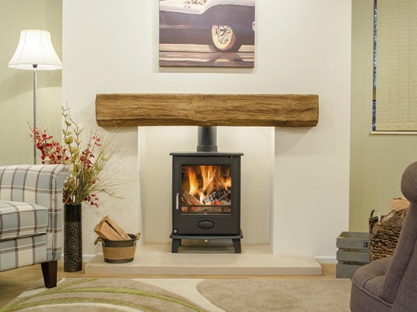The Netherton - Oak effect beam from Newman Fireplaces - Light or Dark Oak