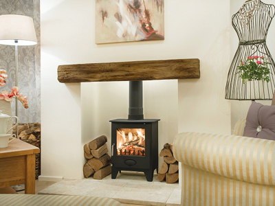 The Clovelly - Oak effect beam from Newman Fireplaces - Light or Dark Oak