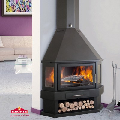 Bronpi Lorca-R 12Kw Corner Wood Burner