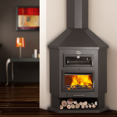 Bronpi Ebro-R 13Kw Corner Cooking Wood Burner