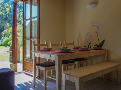 Dining Table with views out onto the patio area