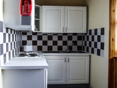 Part of the kitchen area